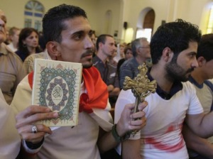 Mosul Christians praying. For the first time in 1,600 years of history, there is currently no official Christian Masses being said in Mosul. But God's Kingdom cannot be devoured. Scroll on...