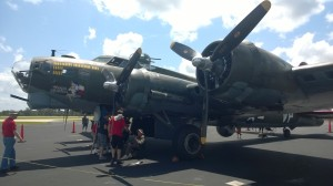 "The ""Texas Raiders,"" a B-17 in the Commemorative Army Air Forces that we toured when it visited Lufkin, Texas."