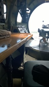 """My grandfather's """"office"""" space, the navigator's desk."""